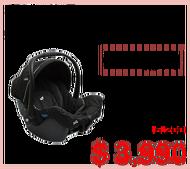 【買就送滑步車】JOIE gemm 手提 提籃式汽座 黑色 JBD82500D