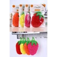 韓國熱銷加厚超萌草莓洗碗布
