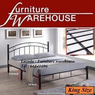 Furniture Warehouse A2776 King Size Metal Bed Frame