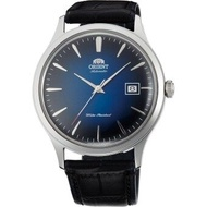Orient Bambino Version 4 Mens Black Leather Strap Watch - FAC08004D0