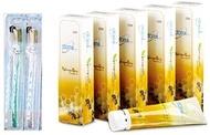 Korean Atomy Propolis ALL Natural Toothpaste (200gx5pcs) + Atomy Super Slim Bristles Toothbrushes (2pcs)