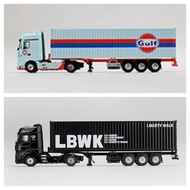 Mini GT Mercedes-Benz Actros with 40 Ft Container Black (213 Gulf / 215 LBWK Liberty Walk)