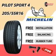 MICHELIN Pilot Sport 4 PS4 205/55R16 (With Installation) TYRE 16 inch tayar kereta AUTOMOTIVE new car tire car tyre