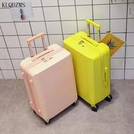 20''24Inch นวัตกรรมกระเป๋าเดินทางแบบลากกระเป๋าเดินทาง PC Simple สไตล์กระเป๋าเดินทางล้อลากสำหรับหนุ่มคน