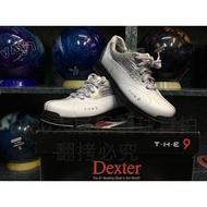 (零碼搶便宜)美國Dexter The 9 (Women's) 雙腳可換底真皮保齡球鞋-白銀紫(6號零碼)