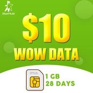 [STARHUB] $10 WOW Data Package Top-up/Prepaid/Telco topup/Mobile/eload 电话充值/手机充值