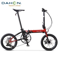 Dahon K3 PLUS Foldable Bike 16-inch Mini Ultralight Variable Speed Disc Brake Folding Bicycle Adult Male And Female Plus KAA693
