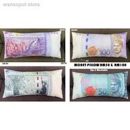 ✉☌[ 100% Cotton ] Malaysia Money Pillow With Zip# Bantal Ringgit Malaya + Zip