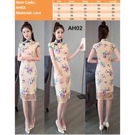 UPDATED CNY Cheongsam Qipao Women Dress Clothes Top Modern Oriental Dress