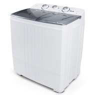 Della Small Compact Portable Washing Machine Washer 11lbs Capacity Top Load Laundry with Spin Dryer Combo, White