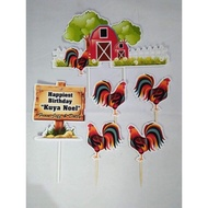 Rooster Customized Cake Topper