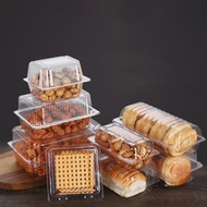 100Pcs Disposable Plastic Cake Packing Boes Clear Fruit Salad Bread Box Takeway Bento Boxes Party Cookie Cake Food Container