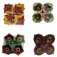 Colorful Clay Diyas For Deepavali, Diwali diya, divali diya ,deepavali Festival ,diwali decoration