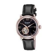 【LICORNE】力抗 光陰系列半鏤空設計手錶(玫瑰金x黑 LT140MRBB)