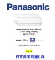 Panasonic (5 Ticks) System 3 | (CS-MXS12UBZ) X 2 + (CS-MXS18UBZ) | CU-3XS27UKZ| Multi-Split Aircon |