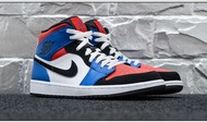 KUMO SHOES-現貨 Air Jordan 1 Mid 'Top 3' 紅白藍 男女鞋 554725-124