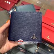英國代購 Vivienne Westwood 星球LOGO水波紋皮革短款摺疊錢包短夾皮夾 6卡