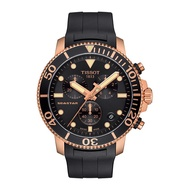 TISSOT天梭 T1204173705100 Seastar1000海洋之星潛水三眼計時錶 黑 金 45mm 廠商直送