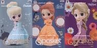 日版 Q Posket Disney 迪士尼 仙杜瑞拉 灰姑娘 貝兒 樂佩 單售B款 淡色 一套三款 Qposket 公仔