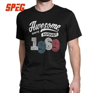 Men T Shirt Awesome Since August 1969 Vintage 50Th Birthday Gift 50 Years Old Tees