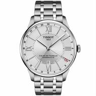 TISSOT天梭 T0994291103800 杜魯爾系列 巴黎時尚羅馬數字自動腕錶鋼帶款 銀 42mm