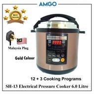AMGO SH-13 Micro Multi Pressure Cooker 6L [12 Cooking Programs]