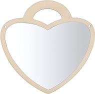 IMIKEYA Acrylic Mirror Wall Sticker Heart Shape Mirror Wall Stickers 3D Removable Wall Art Sticker for Home Decoration