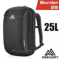 【美國 GREGORY】新款 Border 25 專業輕量電腦後背包(15吋筆電隔層)休閒筆電書包/104089 像素黑