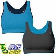 [104 美國直購] Champion Ladies' Reversible Sports Bra 2-Pack-Blue & Black $1039