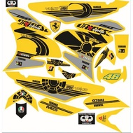 Decals Sticker Motorcycle Decals for Sniper 150 016Rossi sniper 150 yellow