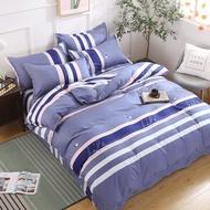 北歐 大條紋 隨想曲  磨毛 加厚 親膚面料 床包 四件套人/特大雙人/床包被套枕套/可訂做