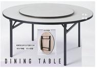 【40年老店專業賣家】全新 5尺 圓桌+ 3尺轉盤+ 軌道+ 折合桌腳=4件組 團圓桌 摺合桌 辦桌組 餐桌 折合桌