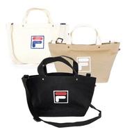 【FILA】Fila Bag 帆布包 側背包 肩背 斜背 手提 輕量 可調式背帶 黑(BMU-9009-BK)