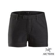【Arcteryx 始祖鳥】女 Devis 抗污防潑吸濕 休閒短褲(碳纖維灰)