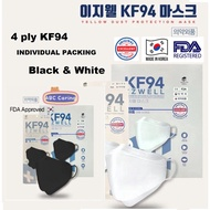 KF94🇰🇷Ezwell Original 3D Face Mask Black & White approved by KFDA MADE IN KOREA🇰🇷★KF94MASK/4ply/KF94 import from Korea🇰🇷