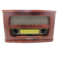 AC Ryan Playon! Retro - FM/BT Portable Speaker (Wooden Case).Pair Bluetooth enabled devices / Built-in knobs / FM Radio / Rechargeable / AUX port. Local Stocks and Warranty!