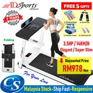 CSMall - 3.5HP ADSports AD520 Luxury Super Slim 58CM Running Platform Home Exercise Gym Fitness Electric Motorized Treadmill