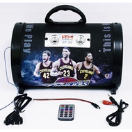 """BT-33 FM 6.5"""" 500 W WIRELESS SPEAKER ADVANCED CAR SUBWOOFER W/BT/FM/USB/TF/AUX/ON-OFF SWITCH OWNED WITH FANTASTIC BASKETBALL DESIGNED HAVE A LIGHTNING EFFECT OF MUSIC WITH YOUR VERY OWN CAR AUDIO SPEAKER"""