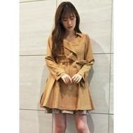 全新轉賣-日貨 DAZZLIN甜美知性雙排釦洋裝風衣外套+綁帶SET
