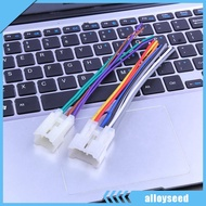 [AL]2pcs Stereo CD Player Radio Wiring Harness Wire Adapter Plugs for Toyota