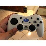 遊戲歐汀 PS2 羅技 LOGITECH 太空戰士XII FINAL FANTASY XII 無線手把 白 無付接收器