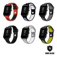 【T.G】Amazfit 米動手錶青春版Lite/GTS/BipS 20mm 撞色運動錶帶-6色(華米 米動專用錶帶 運動錶帶)