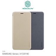 NILLKIN SAMSUNG Galaxy A7 2018 星韵皮套 超薄 側翻 保護套 手機套