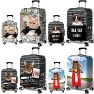 18 -32 แปลกประหลาดแมวยืดหยุ่นกระเป๋าเดินทางฝุ่นกระเป๋าเดินทางที่ครอบ