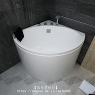 【居家建材行】保溫小戶型深泡三角扇形浴缸亞克力 家用迷你坐式轉角浴盆0.9 1米