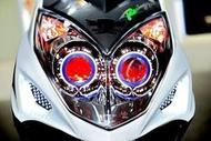 雷霆 RACING 改裝 魚眼大燈 HID 模組 總成 LED 光圈 天使眼 惡魔眼 電鍍飾圈