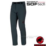 【瑞士 MAMMUT 長毛象】男 SOFtech TREKKERS 機能4D彈性快乾防潑水軟殼長褲/1020-09760-0239 風暴灰