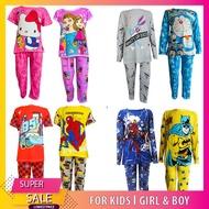 (HARGA BORONG) KIDS / BOY & GIRL UNISEX SLEEPWEAR PYJAMAS SET 2 IN 1 (BAJU TIDUR SEPASANG BUDAK PEREMPUAN / LELAKI)