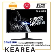 Samsung 27 LC27RG50FQEXXS Curved Gaming Monitor with 240Hz Refresh Rate (3 year onsite warranty)