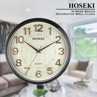 "HOSEKI 12-16"" Designer Wall Clock Series H-9422 H-9421 Silent Sweep Decor Home Decoration Watch Non Ticking Wooden dial"